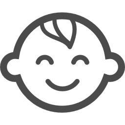 笑顔の赤ちゃんアイコン4